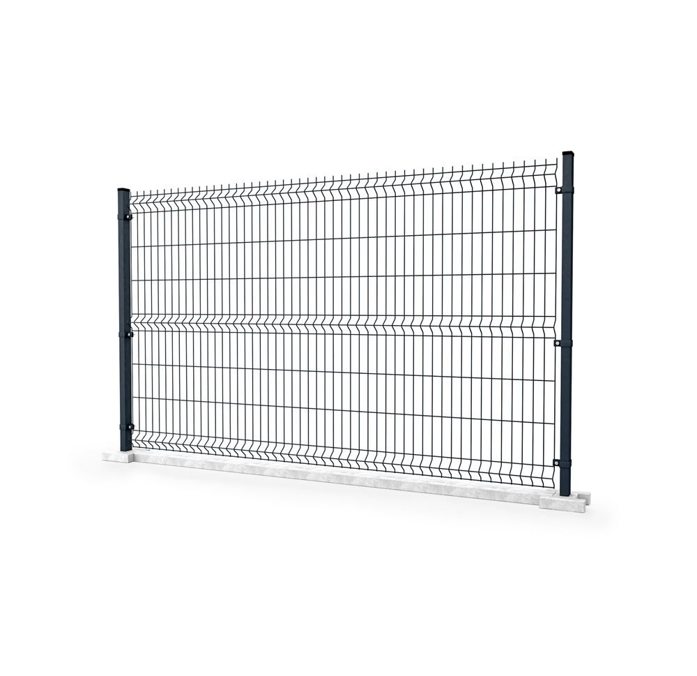 Fence panels with 3D corrugation